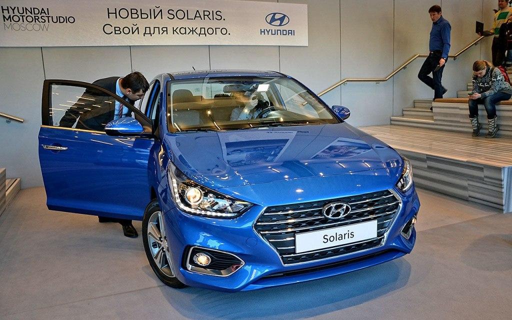 Экстерьер Hyundai Solaris 2017